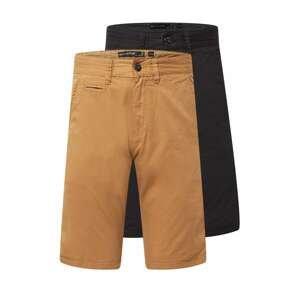 INDICODE Chino kalhoty  khaki / černá