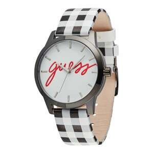 GUESS Analogové hodinky  černá / bílá / červená