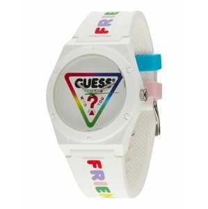 GUESS Analogové hodinky  bílá / mix barev
