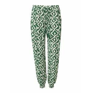 Indiska Harémové kalhoty 'Radhaa'  zelená / bílá