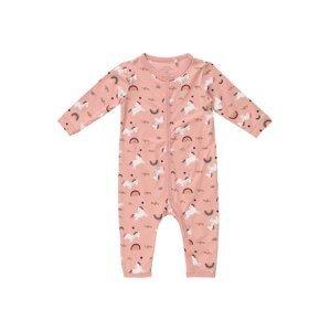 Guppy Pyžamo 'LALA'  růžová / černá / pastelová modrá / pink / žlutá