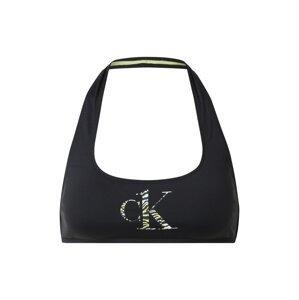 Calvin Klein Swimwear Horní díl plavek  černá / žlutá / bílá