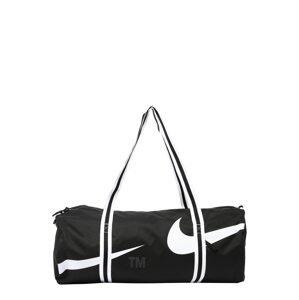 Nike Sportswear Cestovní taška  černá / bílá