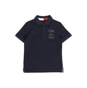 TOMMY HILFIGER Tričko  námořnická modř / bílá / ohnivá červená