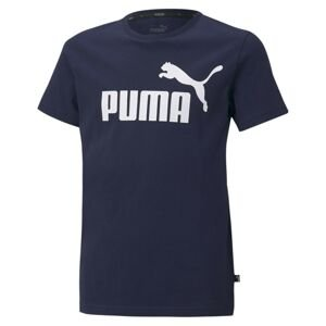 PUMA Funkční tričko  bílá / marine modrá