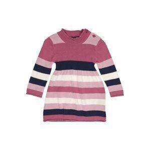 BLUE SEVEN Šaty  růžová / bílá / eosin / námořnická modř