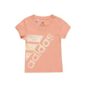 ADIDAS PERFORMANCE Funkční tričko  lososová / bílá