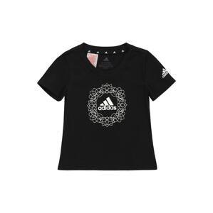 ADIDAS PERFORMANCE Funkční tričko  černá / bílá