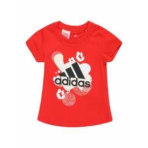 ADIDAS PERFORMANCE Funkční tričko  červená / černá / champagne / bílá