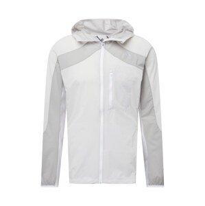 ADIDAS PERFORMANCE Sportovní bunda 'MARATHON'  bílá / světle šedá