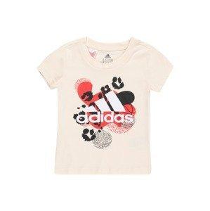 ADIDAS PERFORMANCE Funkční tričko  přírodní bílá / červená / černá