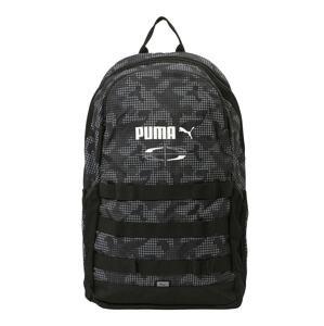 PUMA Sportovní batoh  černá / bílá