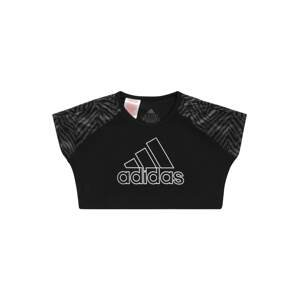 ADIDAS PERFORMANCE Funkční tričko  černá / šedá / bílá