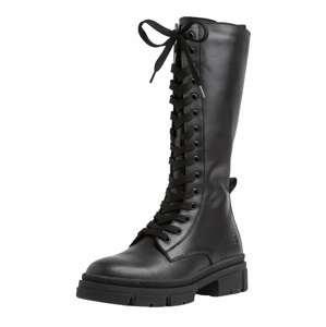 TAMARIS Šněrovací boty  černá