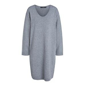 SET Úpletové šaty  šedá