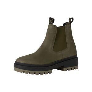 TAMARIS Chelsea boty  khaki / černá