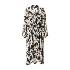 ICHI Šaty 'Ihruga'  černá / bílá / béžová