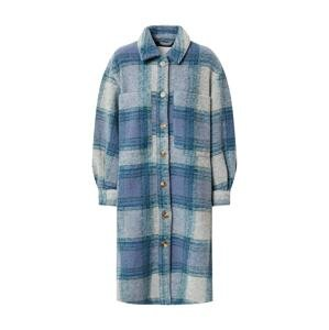 NÜMPH Přechodný kabát  světle šedá / modrá / světlemodrá