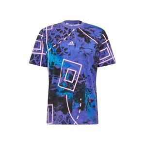 ADIDAS PERFORMANCE Funkční tričko  královská modrá / černá / světle fialová