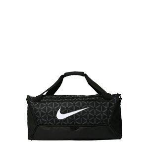 NIKE Sportovní taška 'Brasilia'  černá / šedá / bílá