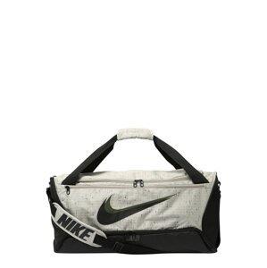 NIKE Sportovní taška 'Brasilia'  světle šedá / černá / khaki