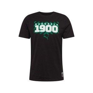 PUMA Funkční tričko  černá / bílá / nefritová