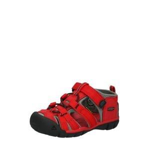 KEEN Sandály 'SEACAMP II CNX'  ohnivá červená / černá / stříbrně šedá