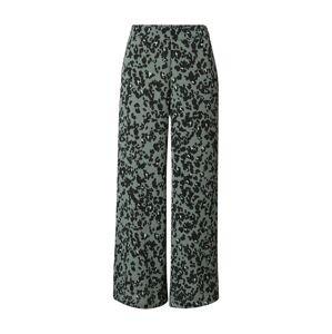 VERO MODA Kalhoty 'SAGA'  smaragdová / černá / bílá