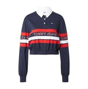 Tommy Jeans Tričko  noční modrá / bílá / červená