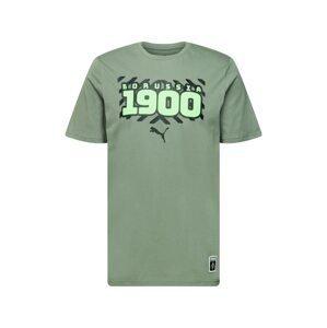 PUMA Funkční tričko  zelená / kiwi / černá
