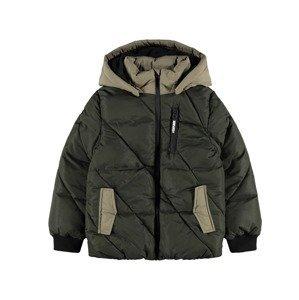 NAME IT Přechodná bunda  olivová / černá / starobéžová