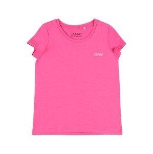 ESPRIT Tričko  pink / bílá