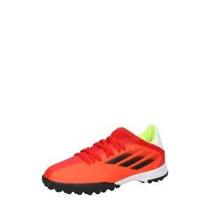 ADIDAS PERFORMANCE Sportovní boty 'X SPEEDFLOW.3 TF'  oranžově červená / černá / bílá