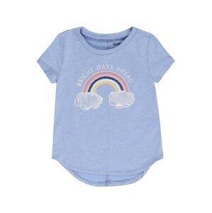 OshKosh Tričko 'ICE FLOWER RAINBOW'  noční modrá / žlutá / chladná modrá / světle šedá / bílá