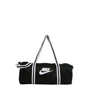 Nike Sportswear Cestovní taška 'Nike Heritage'  černá / bílá
