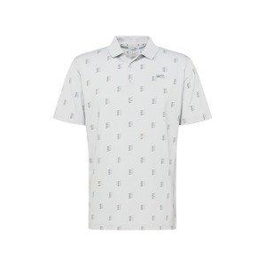 PUMA Funkční tričko  světle šedá / šedá / oranžová