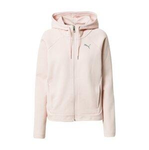 PUMA Sportovní mikina s kapucí  růžová / šedá