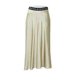 DELICATELOVE Sukně 'SARA'  pastelově zelená / černá