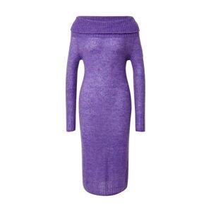 PATRIZIA PEPE Úpletové šaty  tmavě fialová