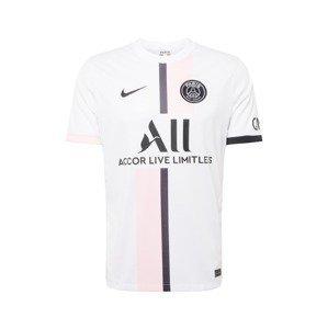 NIKE Trikot 'Paris Saint-Germain 2021/22 Stadium Away'  bílá / černá / pastelově růžová