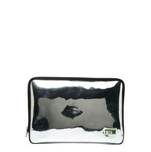 PATRIZIA PEPE Taška na notebook  stříbrná / bílá