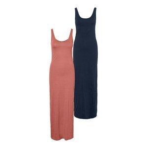 Vero Moda Tall Šaty 'Nanna'  námořnická modř / pastelově červená