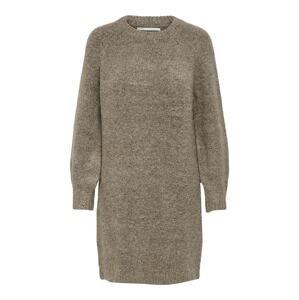 ONLY Úpletové šaty 'Zolte'  šedobéžová
