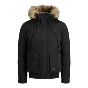 JACK & JONES Zimní bunda  černá