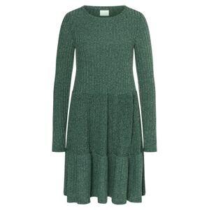 VILA Úpletové šaty 'Elita'  tmavě zelená