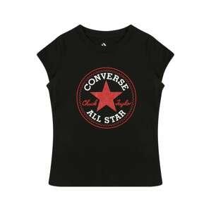 CONVERSE Tričko  černá / červená / bílá