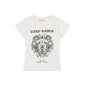 Karo Kauer Tričko  bílá / černá