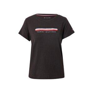 Tommy Hilfiger Underwear Tričko na spaní  černá / bílá / noční modrá / červená