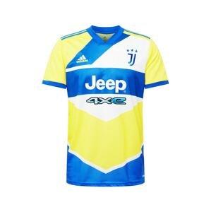 ADIDAS PERFORMANCE Funkční tričko  žlutá / královská modrá / bílá