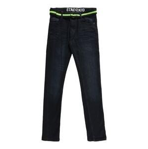 STACCATO Džíny  modrá džínovina / svítivě zelená